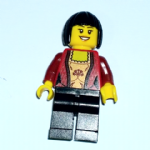 Lego Female red corset ( 10229)  minifigure
